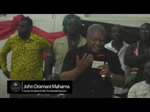 #GO4JM: John Mahama addresses Wa Central NDC delegates