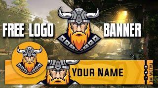 Bedava Professional YouTube Logo Banner | Free Gaming Logo Template Psd [ Viking logo ]#23