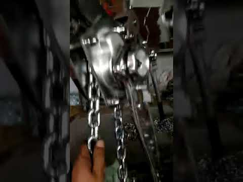 ALL STAINLESS STEEL CHAIN BLOCK FOOD DEGREE