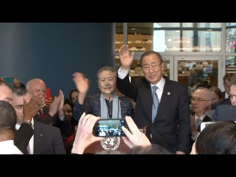 Ban Ki moon Bids Farewell to UN During Speech
