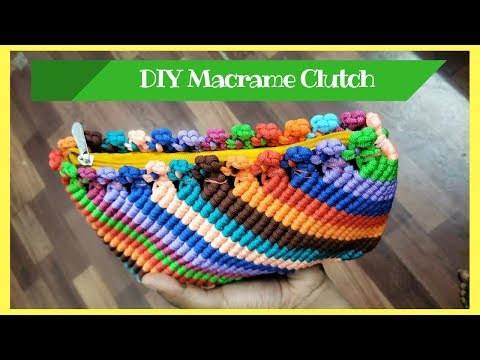 How to make Macrame Clutch from Waste macrame