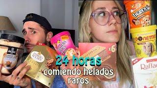 24 HORAS COMIENDO HELADOS RAROS Y NUEVOS   Hermanos Jaso