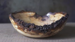 Live Edge Cherry Burl Bowl: A Trip to the Sawyer | Woodturning