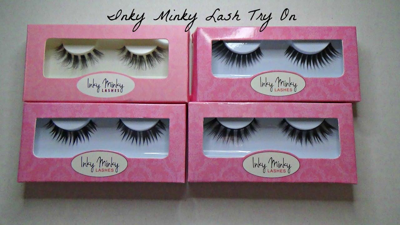 e3864578b8f Inky Minky Lashes Try On! - YouTube