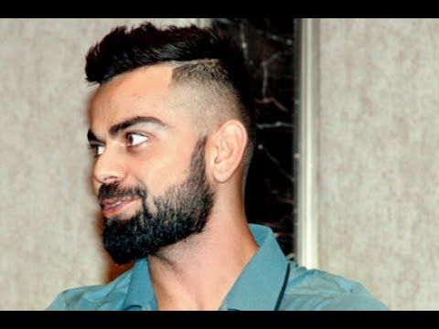 Virat Kohli Flaunts New Hairstyle Haircut Beard Style 2018 Youtube