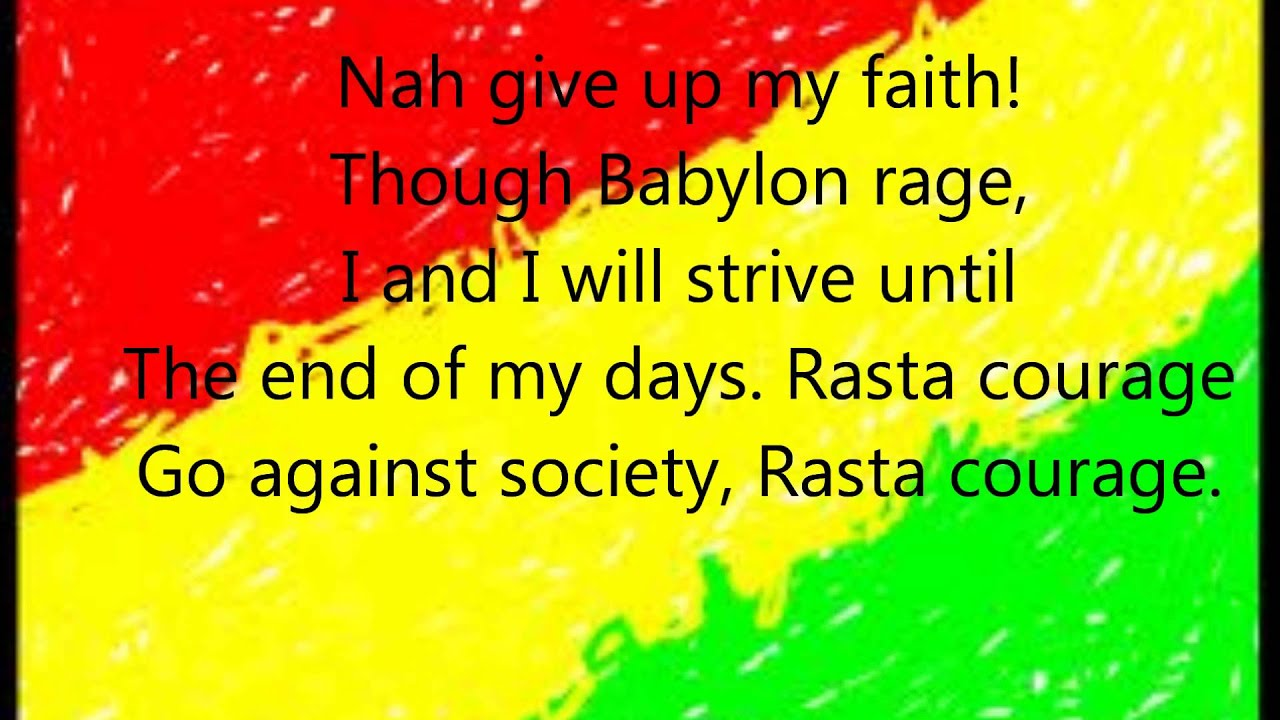 Rasta song lyrics