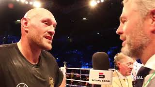 TYSON FURY IMMEDIATE REACTION TO SEFER SEFERI TKO VICTORY IN MANCHSTER!