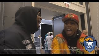 K SHINE AND JAE MILLZ  GET HEATED BEFORE LHS5 PRESS CONFERENCE