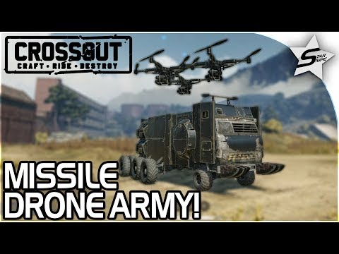 """EPIC MISSILE DRONE ARMY!! - """"TOO MANY DRONES!!"""" - Crossout Beta NEW Gameplay"""