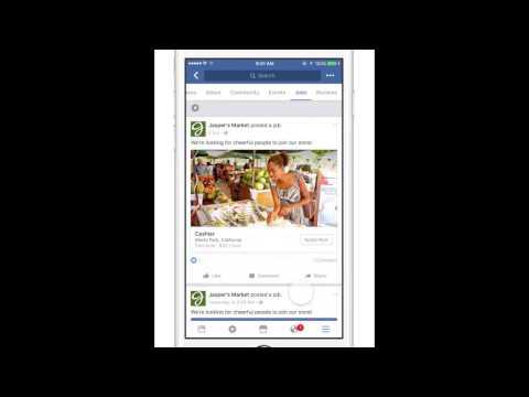 Facebook jobs application feature