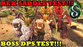 MEGA BOSS DPS TEST - REX SADDLE ARMOR TEST - How much does Armour count towards Defense??? Ark 2017