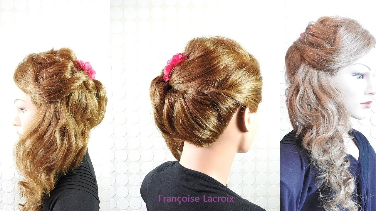 Coiffure Mariage Avec Boucles Cote Bridal Hairstyle With Side Curls Peinado Con Bucles Laterales