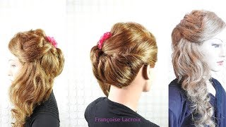 Coiffure Mariage Avec Boucles Cote Bridal Hairstyle With Side Curls Peinado Con Bucles Laterales Youtube