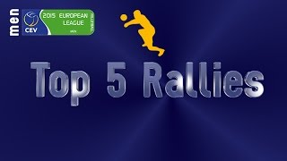 Stars in Motion: Top 5 Most Amazing Rallies - 2015 CEV Volleyball European League Men - Episode 3