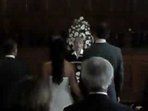 alex amp carlas wedding walking down the aisle youtube