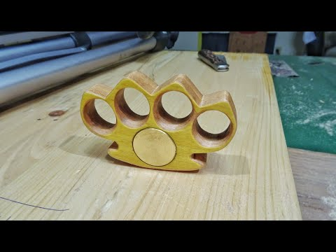 DIY Wooden Brass Knuckles (Weighted Wooden Knuckle Dusters)