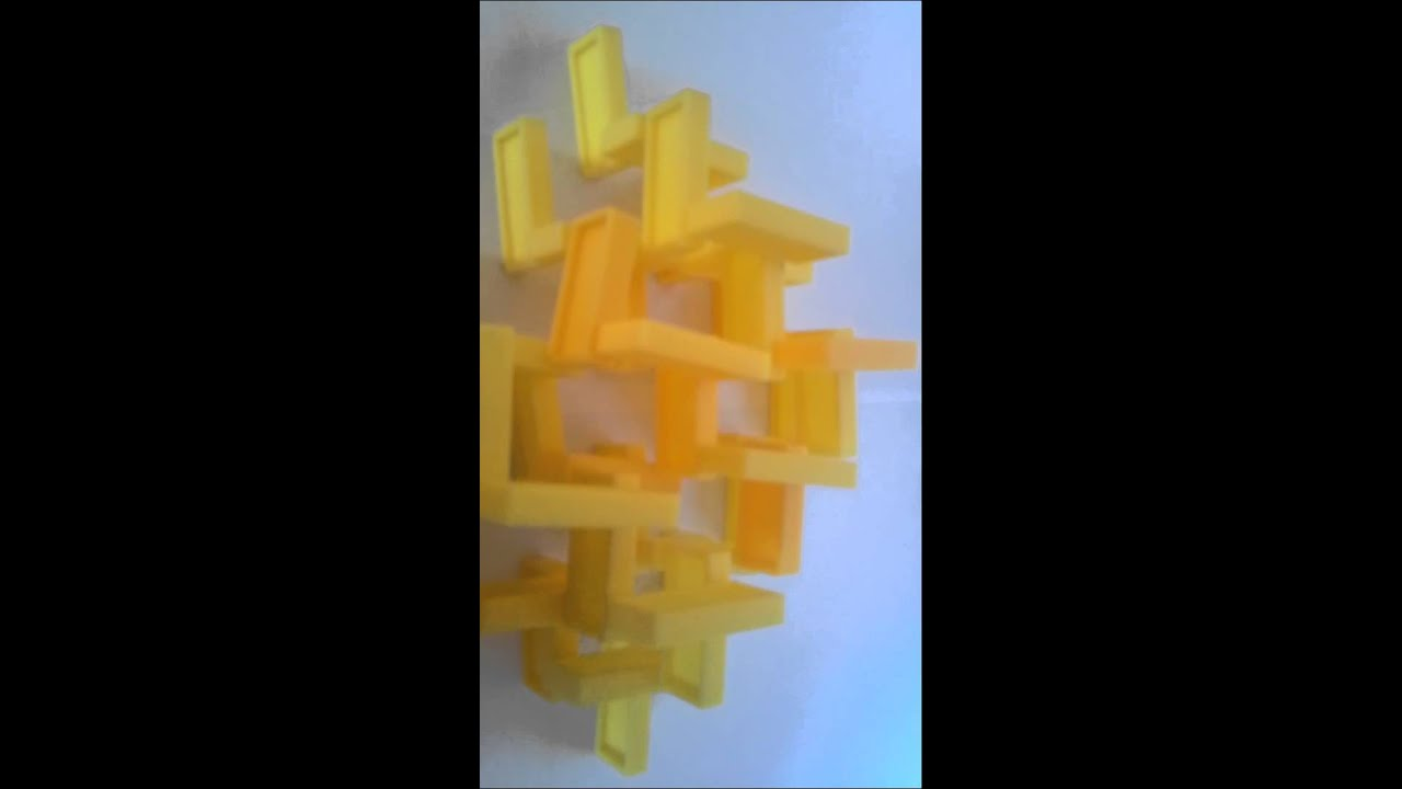 Tuto : Comment Faire Une Pyramide 3D En Dominos - Youtube