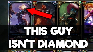 Placing a Bronze Riven Main in a Diamond Solo Q Game - League of Legends