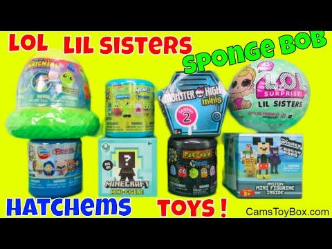 Surprises Toys LOL Series 2 Hatchems Mashems Pac Man Sponge Bob Disney Crossy Road Monster High