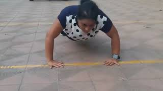 Indian Girl Push Up Challenge