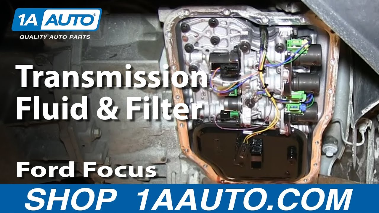 How To Service Change Transmission Fluid And Filter Ford Focus Youtube
