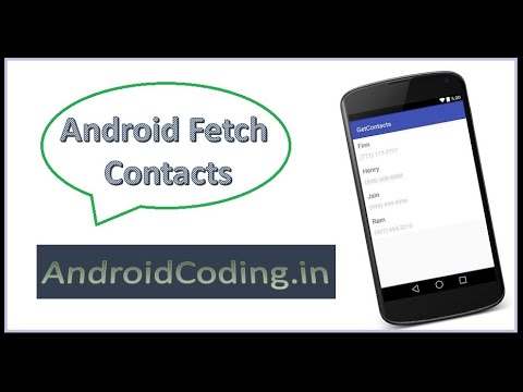 Android : Fetch contacts on your device to a listview like what's app