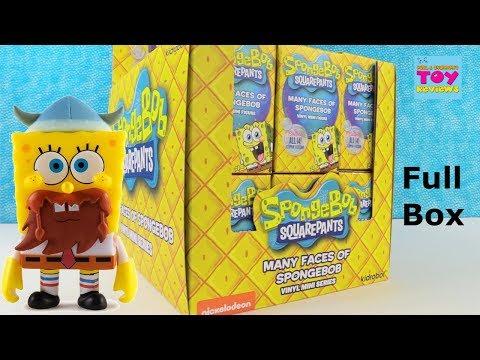Spongebob Squarepants Many Faces Of Vinyl Figure Series Unboxing   PSToyReviews