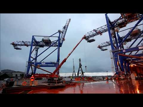 Liebherr - Shipping fully assembled ship to shore container cranes from Ireland