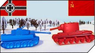 АТАКА НЕМЕЦКИХ ТАНКОВ НА СССР - Игра Total Tank Simulator НОВАЯ Demo 4