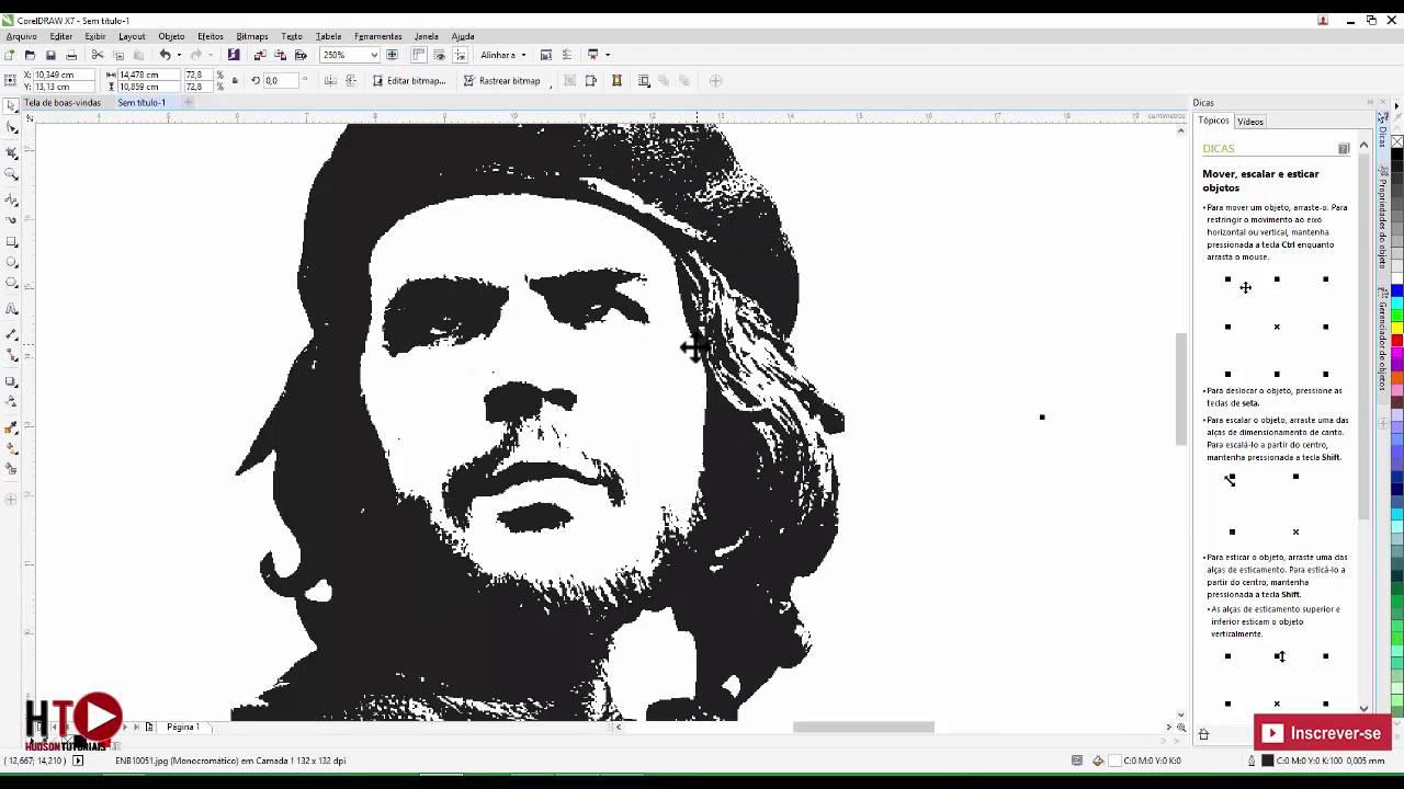Como Transformar Foto Em Desenho Corel Draw Para Sublimacao Youtube