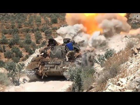 Syria War 2017 - Fighting Between SAA And Rebel In Daraa Intensifies [ Real Clashes]