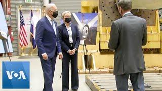 Biden Tours Energy Lab, Focus on Clean-Energy Plan