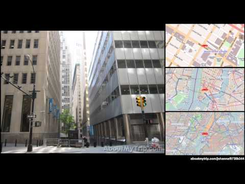 Wall Street (New York City, Financial District) to Wooster Street (Chinatown) via Lower East  (...)