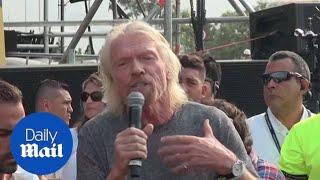 Richard Branson speaks ahead of Venezuelan fundraising concert