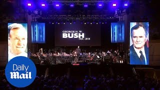 Tribute concert held in Houston Texas for George H. W. Bush thumbnail