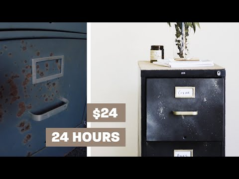 File Cabinet Makeover for under $30