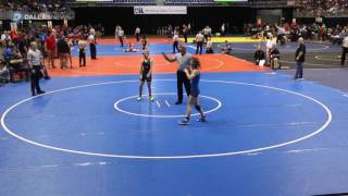 Trinity's Mack Beggs wrestles at the UIL Wrestling State Tournament