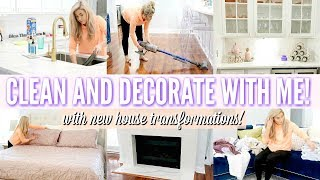 DECORATE AND CLEAN WITH ME | NEW HOUSE TRANSFORMATIONS | LOVE MEG