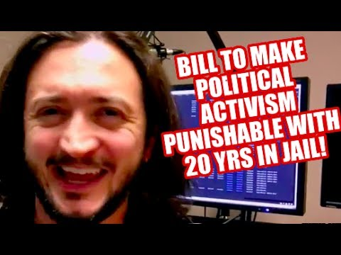 URGENT: Congress Considering Bipartisan Bill To Make Political Activism A Felony!