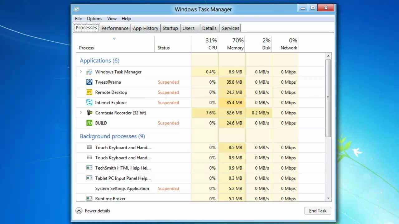 Microsoft Windows 8 Task Manager Review