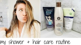 MY SHOWER + HAIR CARE ROUTINE