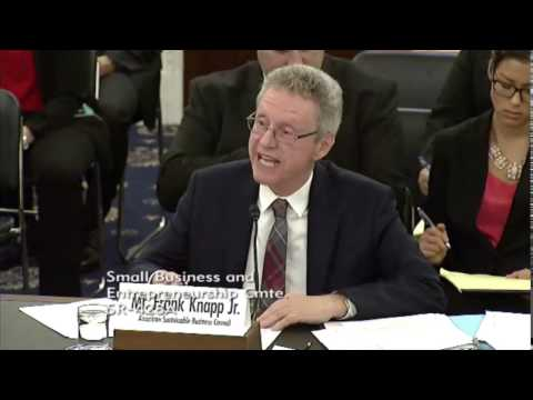 Frank Knapp, Jr. | Testimony to Senate Small Business Committee | March 29, 2017