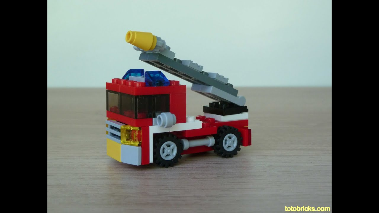 lego fire truck 4977 instructions