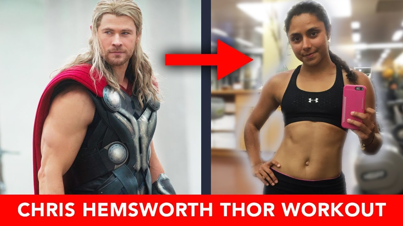 we tried chris hemsworth 39 s thor workout upper body