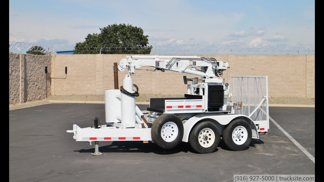 2000 SDP Panther EZ Hauler 2500 Mini Digger / Crane for sale Imt Crane Wiring Diagram on