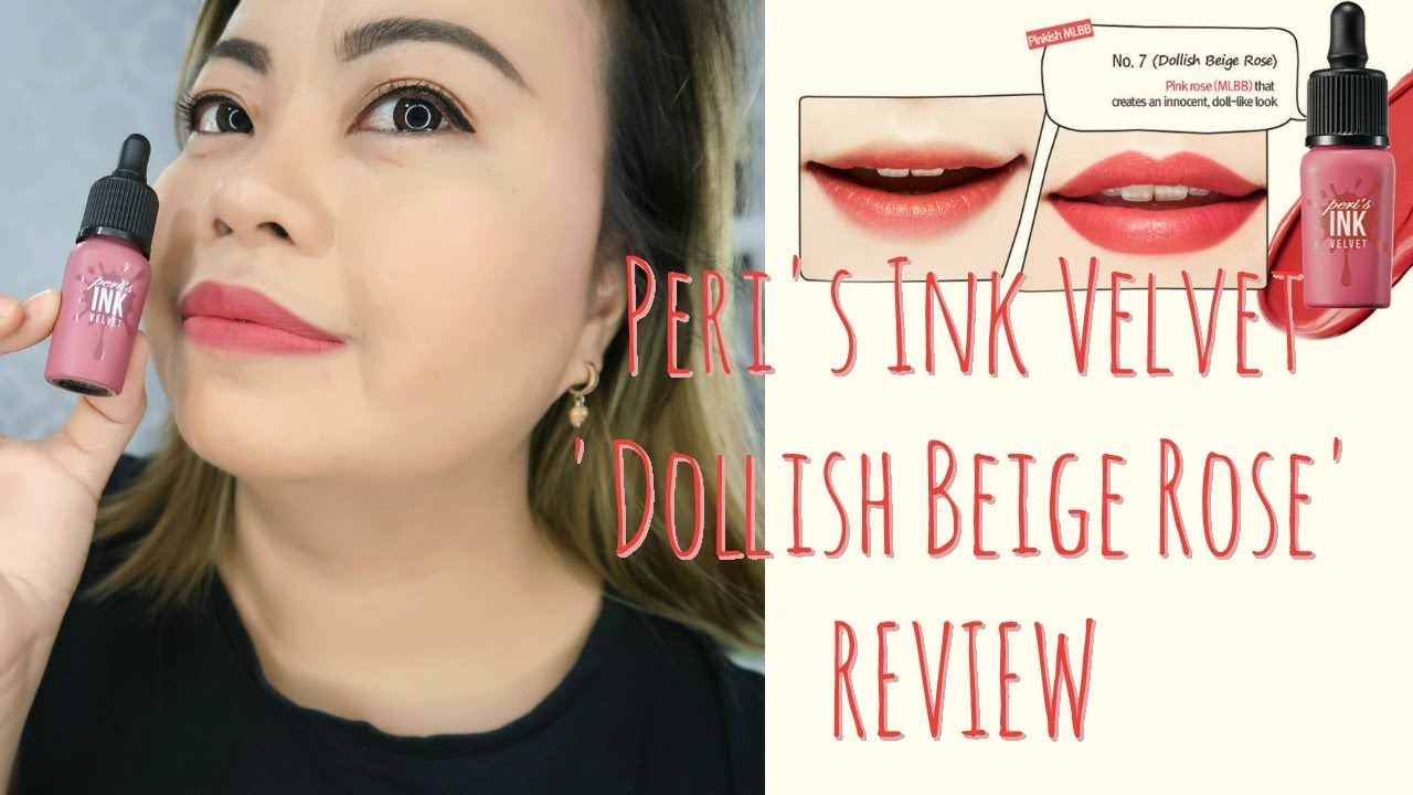 Peripera Peris Ink Velvet In Dollish Beige Rose Review Itstinlife Airy 8g Original Beautyblogger Beautyvideo