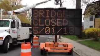 Easthampton Ma - Manhan Bridge Closed 05/01/13