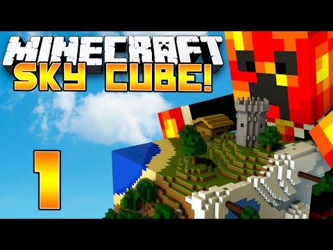 Minecraft Sky Cube - EPIC NEW CHALLENGES! - (1) Minecraft 1.8 Challenges