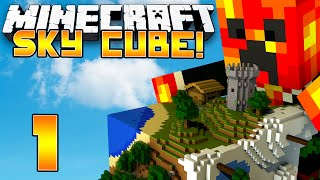 Minecraft Sky Cube - EPIC NEW CHALLENGES! - (1) Minecraft 1.8 Challenges