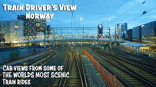 CABVIEW From the Bergen Line and Flåm Railway in Norway